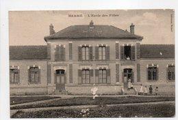 - CPA HERMÉ (77) - L'Ecole Des Filles - Collection Millard - - Francia