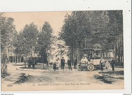 93 PLATEAU D AVRON ROND POINT DES DEMOISELLES AUTOBUS CPA BON ETAT - France