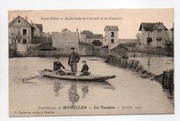 - CPA HOUILLES (78) - Inondations Le Tonkin - Janvier 1910 - Rond-Point - Boulevards De L'Avenir Et De Nanterre - - Houilles