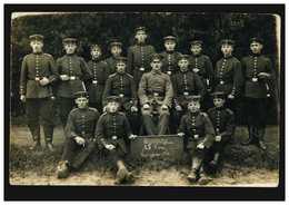 Foto-AK Gruppenbild 15. Korporalschaft Kriegsjahr 1916, MÜLHEIM/RHUR 21.8.16 - Militaria