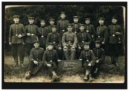 Foto-AK Gruppenbild 15. Korporalschaft Kriegsjahr 1916, MÜLHEIM/RHUR 21.8.16 - Non Classés
