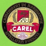 Etiquettes De Fromage.  Camembert  De Normandie.  Moulin De Carel.  St Pierre Sur Dives (14).  Neuve. - Formaggio