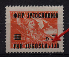 50.Yugoslavia 1949 Surcharge Variety 3d/8d MNH - Unused Stamps