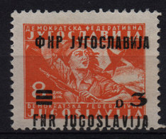 51.Yugoslavia 1949 Misplaced Surcharge 3d/8d MNH - 1945-1992 Repubblica Socialista Federale Di Jugoslavia