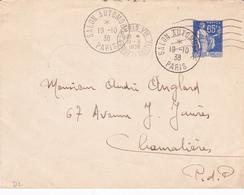 Enveloppe Paix 65 C Outremer D2 Oblitérée - Postal Stamped Stationery