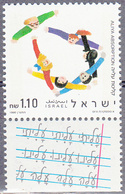 ISRAEL    SCOTT NO  1065     MNH    YEAR  1990   WITH TABS - Israel
