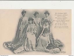 PARIS MI CAREME 1907 MLLE GEORGETTE JUTEAU REINE DES REINES  CPA BON ETAT - Andere