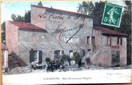 13 VALDONNE LA CIOTAT  BAR RESTAURANT MAGERE PETITE ANIMATION CARTE RARE VOYAGE EN 1911 - Otros Municipios
