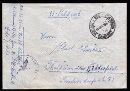 A6478) DR SS-Feldpostbrief über Deutsche Dienstpost NL Ede 19.12.43 - Deutschland