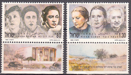 ISRAEL    SCOTT NO  1102-3     MNH    YEAR  1991   WITH TABS - Israel