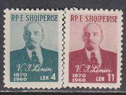 Albania 1960 - 90 Years Of The Birth Of LENIN, Mi-Nr. 597/98, MNH** - Albanie