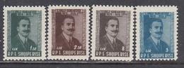 Albania 1958 - Luigi Gurakuqi, National Heroe, Mi-Nr. 560/63 , MNH** - Albanie