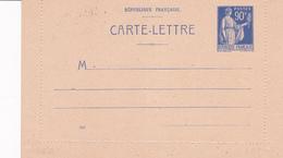Carte Lettre Paix 90 C Outremer F1 - Entiers Postaux