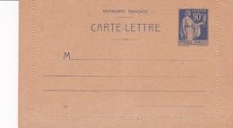 Carte Lettre Paix 90 C Outremer F2 Neuve - Entiers Postaux