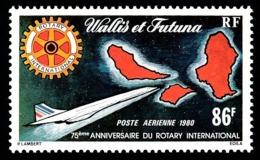 WALLIS ET FUTUNA 1980 - Yv. PA 101 **   Cote= 6,00 EUR - Avion Concorde Et Rotary International  ..Réf.W&F22470 - Luchtpost