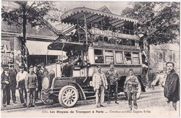 75. Les Moyens De Transport à PARIS. Omnibus Autobus Eugène Brillié. 2080 (2) - Openbaar Vervoer