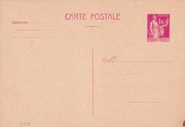 Carte Paix 1 Fr Rose G1a Neuve - Entiers Postaux
