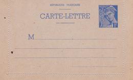 Carte Lettre Mercure 1 Fr Outremer B1 Neuve - Biglietto Postale