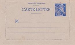 Carte Lettre Mercure 1 Fr Outremer B2 Neuve - Biglietto Postale