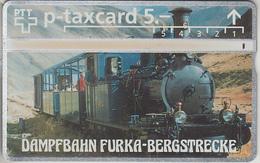 SUISSE - PHONE CARD - TAXCARD-PRIVÉE *** TRAIN - ZUG & VAPEUR FURKA *** - Schweiz