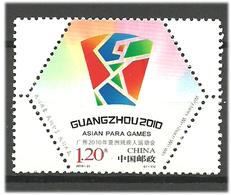 China 2010 Asian Disabled Sports Games, Canton (Asian Para Games, Guangzhou). Mi 4181 MNH(**) - 1949 - ... République Populaire