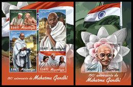 MOZAMBIQUE 2019 - Mahatma Gandhi. M/S + S/S. Official Issue [MOZ190119] - Mahatma Gandhi