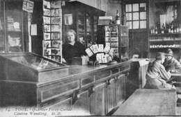 20-1087 : TOUL. QUARTIER FOREY-CURIAL. LA VENTE DES CARTES POSTALES A LA CANTINE. TOURNIQUET. COMMERCE - Commerce