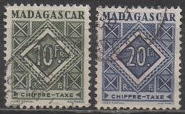 MADAGASCAR  1947__N° 39/40__OBL  VOIR SCAN - Timbres-taxe