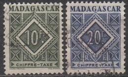 MADAGASCAR  1947__N° 39/40__OBL  VOIR SCAN - Madagascar (1889-1960)