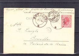 Roumanie - Carte Postale De 1902 - Oblit Botosani - Exp Vers Bruxelles - Vue Nid De La Princess - Sinaia - Cartas
