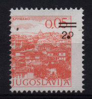 54. Yugoslavia 1985 2D/0.05 Print Variety MNH - Unused Stamps