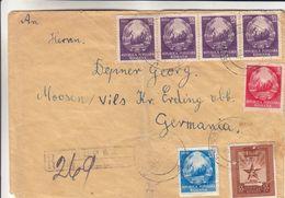 Roumanie - Lettre Recom De 1952 - Oblit Rupea - Exp Vers Moosen Vils - - 1948-.... Républiques
