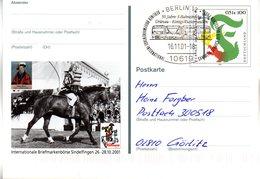 "BRD Amtl. GZS-Sonderpostk. PSo 78 ""Int. BM-Börse Sindelfingen"" WSt ""Further Drachenstich"", SSt. 16.11.2001 BERLIN 12 - [7] Repubblica Federale"