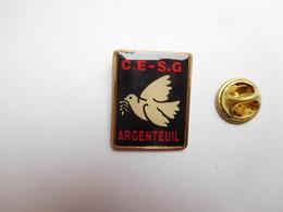 Beau Pin's , CE S.G Argenteuil , Banque Société Générale ?? , Oiseau Colombe - Banken
