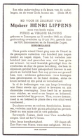 Devotie - Doodsprentje Overlijden - 100 Jarige Henri Lippens - Zomergem 1860 - 1961 - Décès