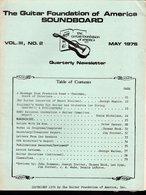 Revue Guitare Soundboard Guitar Fondation Of America N° 2 - 1976 - Art