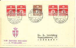 Denmark Card 24-7-1947 DEN DANSKE BRIGADE I TYSKLAND Sent To Denmark - 1913-47 (Christian X)
