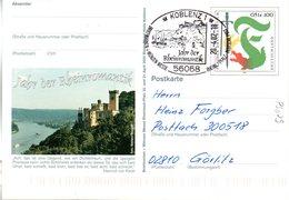 """BRD Amtl. GZS-Sonderpostk. PSo 79 """"BM+Münzen Messe Rheinland-Pfalz"""" WSt """"Further Drachenstich"""" SSt. 20.4.2002 KOBLEN 1 - BRD"""