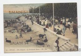 CPA - ROYAN (17) La Promenade Botton (très Animée Nombreuses Personnes - Chevres) Carte Taxée Voir Scan - Cachet 1916 - Royan