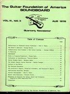 Revue Guitare Soundboard Guitar Fondation Of America N° 3 - 1976 - Art