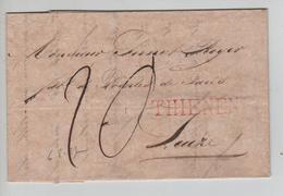 CBPND13/ Précurseur LAC 6/8/1827 Griffe THIENEN Port 20 ST. > Leuze - 1815-1830 (Holländische Periode)