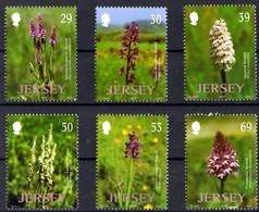 Jersey 2003 Yvertn° 1102-1107 *** MNH  Cote 13,50 Euro Orchidées Sauvages Flowers Fleurs Bloemen - Jersey