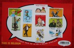 Tintin Kuifje Comics Strips Smurf OBC BL201 (Mi 4303-4312 Bl 102) 2012 POSTFRIS MNH ** BELGIE / BELGIEN / BELGIUM - Ungebraucht