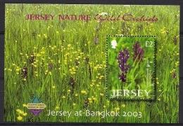 Jersey 2003 Yvertn° Bloc 51 *** MNH Cote 10 Euro Flore Orchidées Bangkok 2003 - Jersey