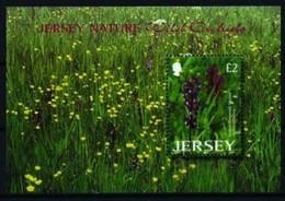 Jersey 2003 Yvertn° Bloc 47 *** MNH  Cote 10 Euro Orchidées Sauvages Flowers Fleurs Bloemen - Jersey