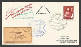 Aérophilatélie - DDR - Lettre 1957 - Segelflug - Planeur - Aero-club Bad Neustadt - Laucha - Vol Reporté - [6] Oost-Duitsland