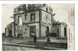 CPA - Cartes Postale-France-Sillery- La Gare Après Le Bombardement -1914-1916-VM11605 - Sillery