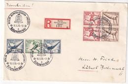 ALLEMAGNEE 1936 LETTRE RECOMMANDEE DE BERLIN AVEC CACHET ARRIVEE LUBECK - Allemagne