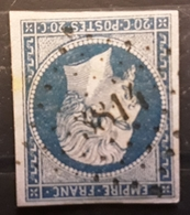Empire No 14 Obl Pc 3814 Bureau Supplémentaire De MONTBENOIT, Doubs , Belle Frappe TB - 1853-1860 Napoleon III