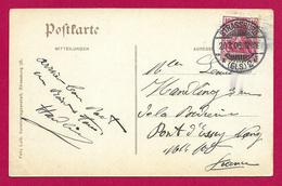 Écrit Postal Daté De 1906 - Voyagé De Strasbourg à Destination De Pont D'Essey Près De Nancy - Allemagne